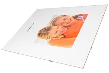 Frameless Wall Mounting Clip Frames Size A2 Photograph Poster