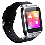 Bluetooth Smart Watch Phone for Android iOS 2015 touch screen Android BT3.0 Can Insert SIM Car SmartWatch Phone portables montre intelligente des appels mains libres/con (gold)