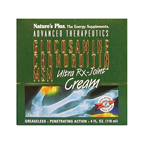 Nature's Plus - Glucosamine/Chondroitin/MSM Ultra Rx-Joint Cream, 4 ounce - Plus Msm Glucosamine