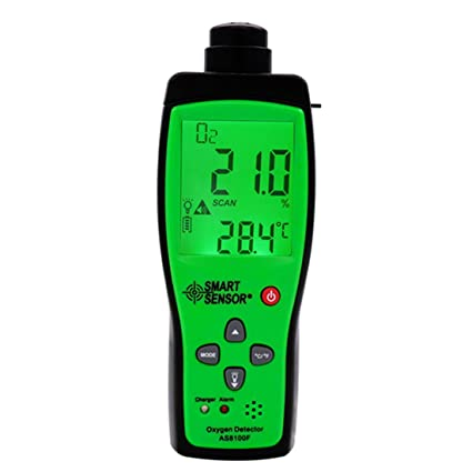 Smart sensor AS8100F oxygen gas analyzer O2 concentration measuring range 0-25% detector tester - - Amazon.com