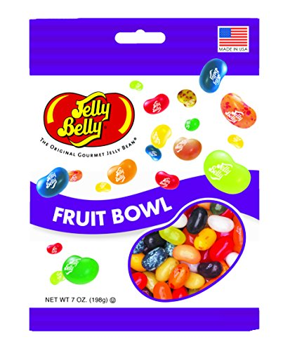 Jelly Belly Fruit Bowl Jelly Beans, Assorted Fruit Flavors, 7-oz, 12 Pack