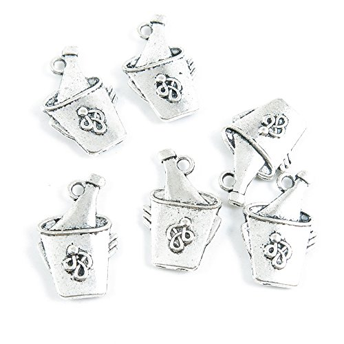 ver Tone Jewelry Making Charms Supply ZY2858 Wine Ice Bucket ()