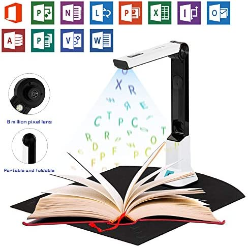 ハイビジョンウェアラブルカメラ,ドキュメントスキャナ,A4最大走査範囲,多言語OCR認識,オフィスや家庭/リアルタイム教育に適している,Soft bottom