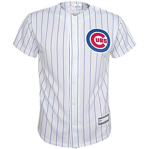 (Outerstuff MLB 8-20 Youth Blank Cool Base Home Color Team Jersey (Medium 10/12, Chicago Cubs))