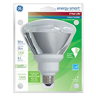 100 Watt Indoor Flood Light Bulbs: GE Lighting 47483 Energy Smart CFL 26-Watt (100-watt replacement) 1300,Lighting
