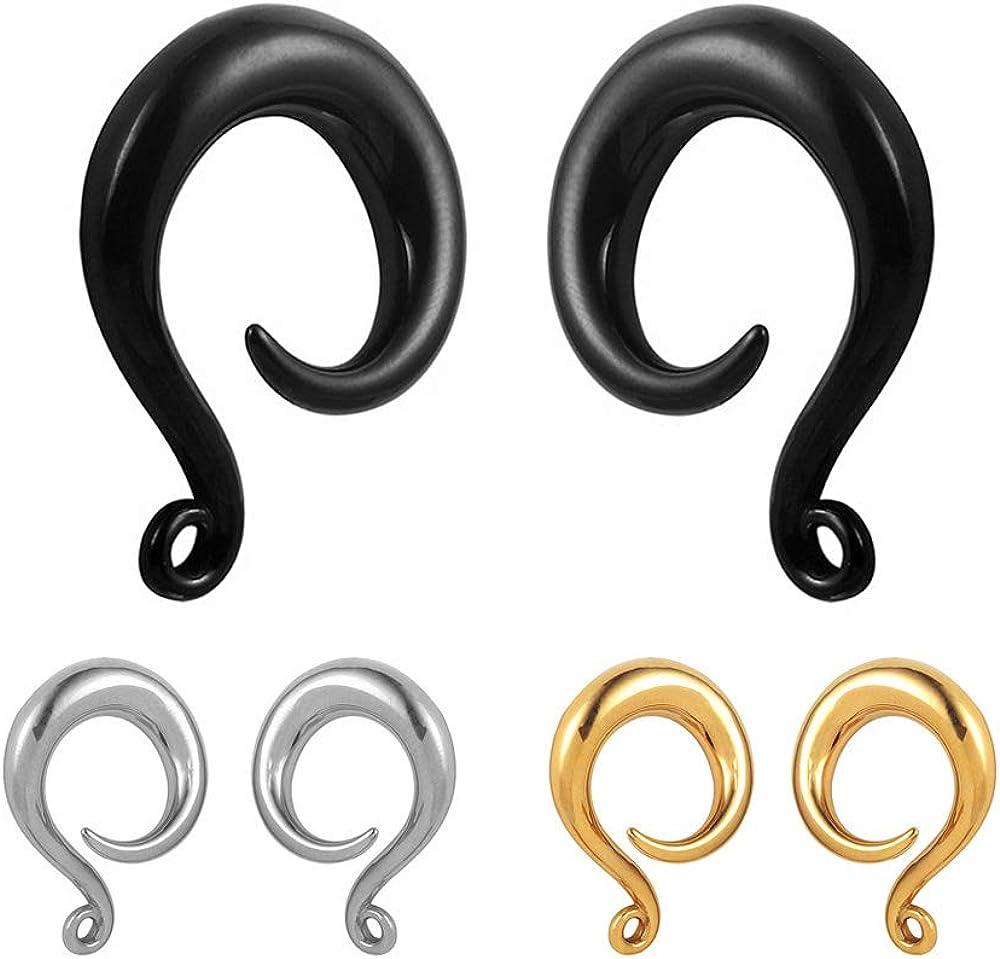 Carved Wood Big Gauge Ear Plug Saddle Organic Black Hoop Dangle Pendant Silver