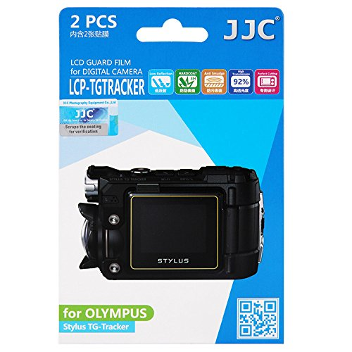 - JJC 2Pcs LCD Screen Protector PET Film for Olympus Stylus TG-Tracker Video Camera Camcorder