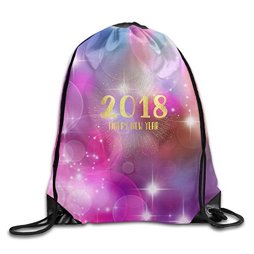 2018 Happy New Year Drawstring Bags Travel Backpack For Teens College