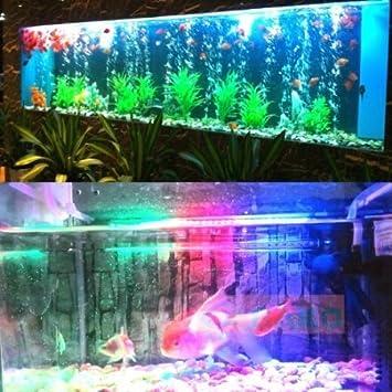 Deckey 12 LED Lámpara Tira Acuario Pecera Estanque Sumergible Submarino 31cm Luz Multicolor: Amazon.es: Hogar
