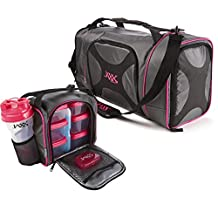 Fit & Fresh 946FFJX232C Jaxx Dual Fuel Duffel Black with Pink Trim Womens