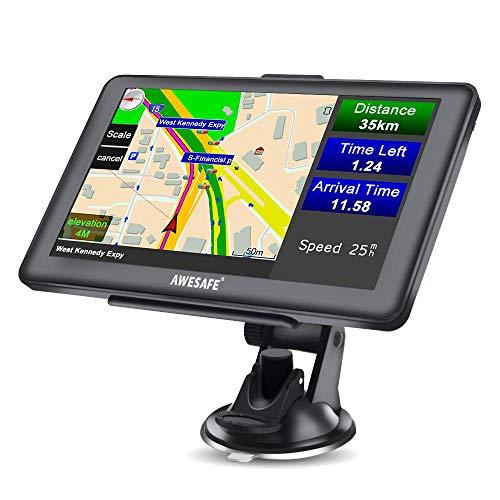 AWESAFE GPS Navi Navigation für Auto LKW PKW KFZ Navigationsgerät 7 Zoll Lebenslang Kostenloses Kartenupdate 2021 Europa…