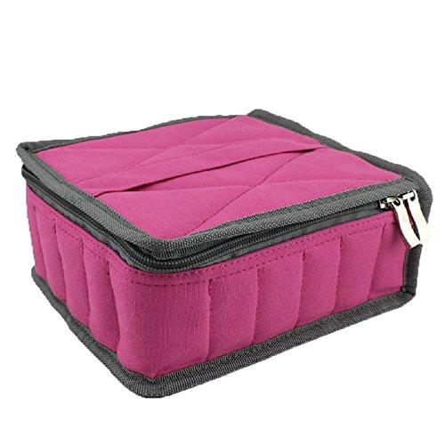 Hytek Gear Essential Oil Carrying Case Holds 30 Bottles (5ml-15ml), Pink