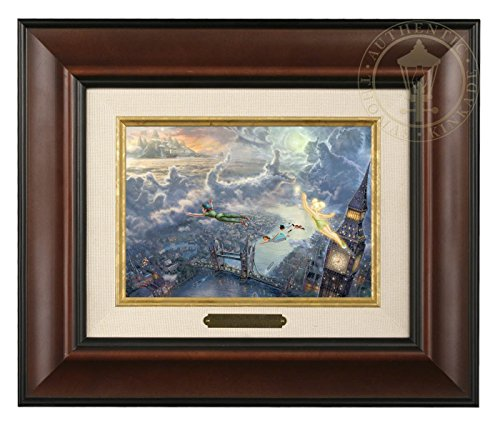 Thomas Kinkade Disney Tinker Bell & Peter Pan Fly to Neverland Brushwork (Burl) ()