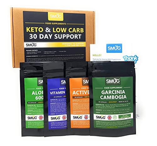 Keto and Low Carb Kit – 30 Day Support – Keto Diet Pills for a Low Carbohydrate Diet Plan – Includes Garcinia Cambogia…