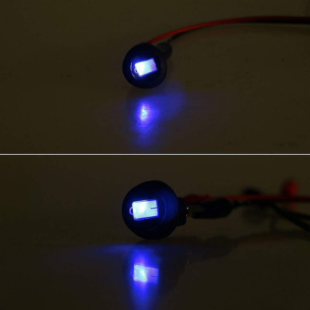Elenxs 5PCS del Coche cami/ón de RV Rocker Ronda Toggle Switch On Off LED de Control Impermeable del Interruptor LED Azul Marina del Barco Rocker 12V 20A
