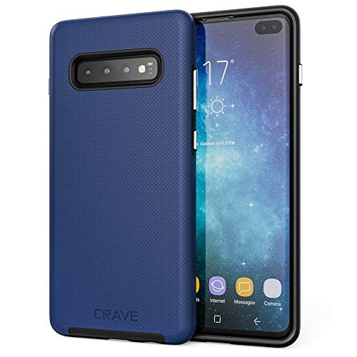 S10+ Case, Crave Dual Guard Protection Series Case for Samsung Galaxy S10 Plus - Navy