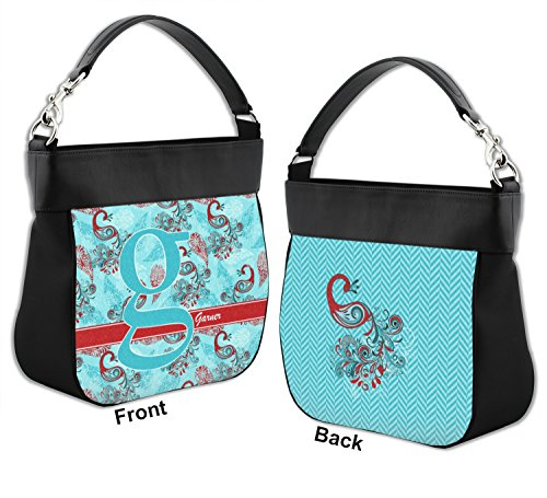 Back Trim Front amp; Peacock Genuine Purse Personalized Leather Hobo w nqwCTTPx84