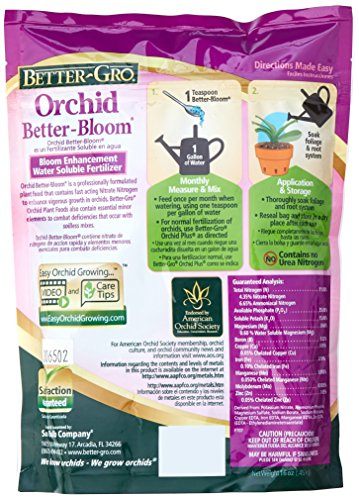Sun Bulb Company 8305 Better Gro Orchid Plus Bloom Booster Fertilizer, 16-Ounce