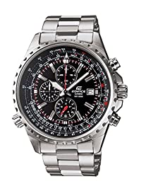 Edifice EF-527D-1AVCF - Reloj Análogo para Hombre, Movimiento de Cuarzo, Acero Inoxidable