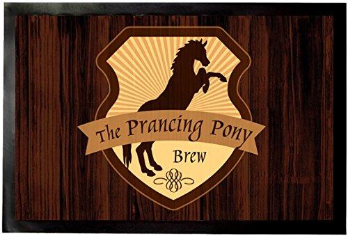(1art1 Restaurants Door Mat Floor Mat - The Prancing Pony (24 x 16 inches))