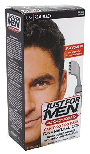 Just For Men Autostop Color #A-55 Real Black (6 Pack) COMBE INCORPORATED