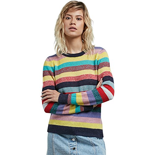 Volcom Junior's Georgia May Jagger Core Rainbow Sweater, Multi, - Georgia Jagger