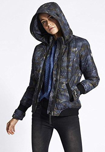 Efecto gemustert para Camouflage teñido guateada Chaqueta chaqueta khujo Larga Manga mujer wqvStt