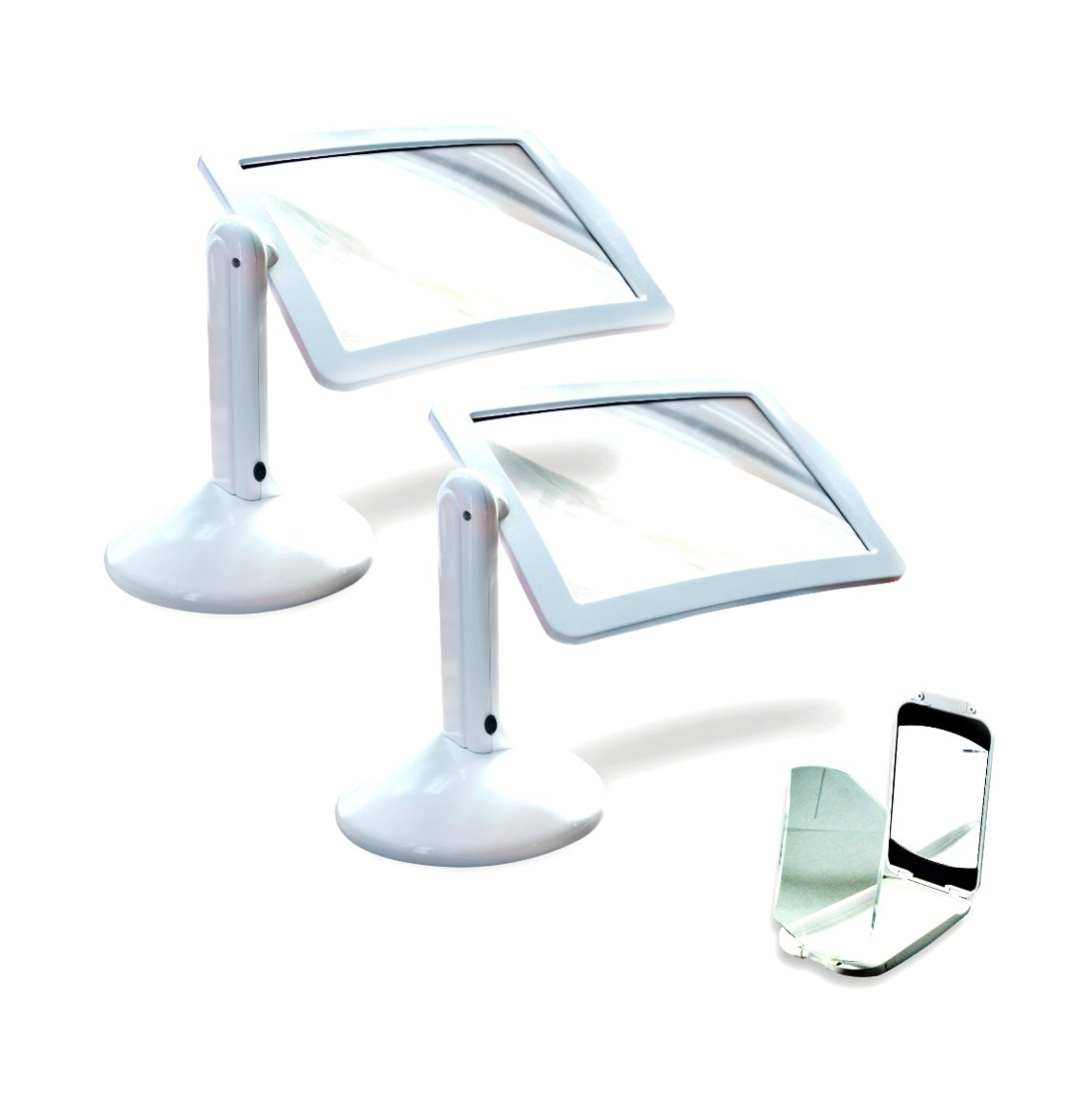Brighter Viewer - LED Magnifier - Screen Magnifier in White - Set of 2 with Compact Viewer