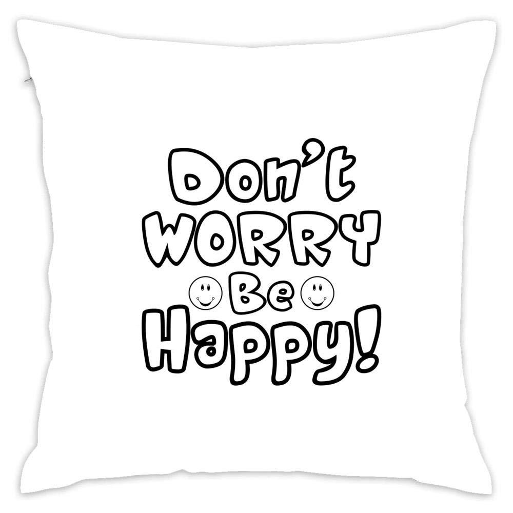 新色 休息枕 オフィス クッション ベッド装飾 アート枕  Dont Worry B07R1LNJD5
