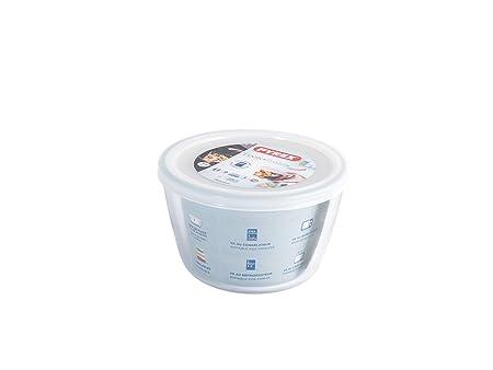 Pyrex Cook&Freeze Recipiente Redondo con Tapa, 15cm-1,1L, Vidrio ...