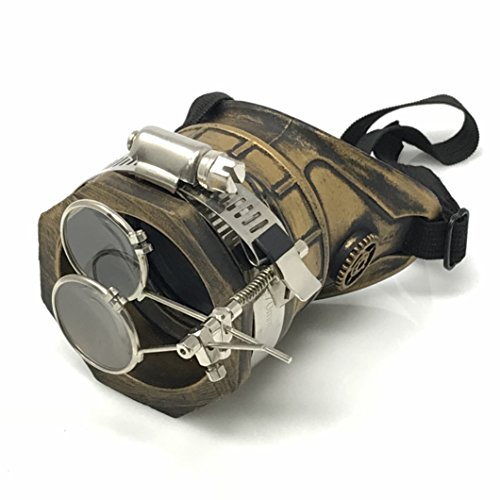 UMBRELLALABORATORY Steampunk Monocle Goggles Victorian left Side with