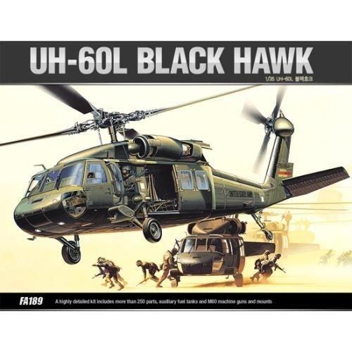 ACADEMY Plastic Model Kit 1/35 SCALE UH-60L BLACK HAWK (#12111)