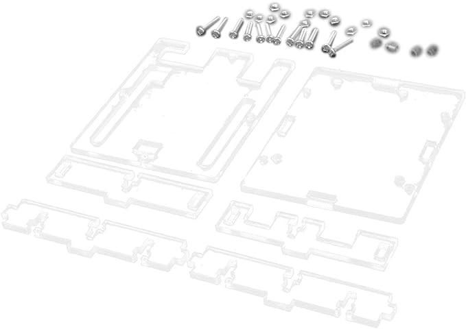 Carcasa Caja de Acrílico Transparente para Arduino UNO R3: Amazon.es: Electrónica