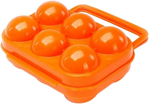 BrilliantDay Portable 2 Eggs Slots Holder Shockproof Storage Box for Camping Hiking Blue