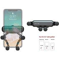 """BellFan Handyhalterung für Auto, Schwerkraft Auto Handyhalterung Air Vent Universal-Kfz-Handyhalter kompatibel für iPhone XS MAX/XS/XR, Galaxy S10/S10+ (Für 5,5""""oder größere Telefone) (Schwarz)"""