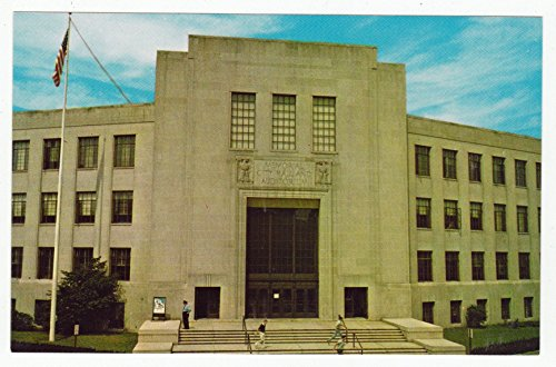 Memorial City Hall and Auditorium, Lynn, Massachusetts Vintage Original Postcard #1948 - 1960's - Massachusetts Vintage Postcard