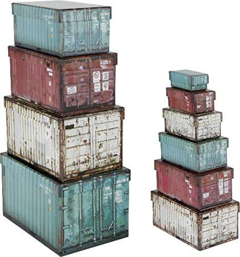 Paper Collection Lote de 10 Cajas de Regalo de Almacenaje Organizacion Hogar Decorativas Container Design Cajas de Contenedores Rectangulares: Amazon.es: Hogar