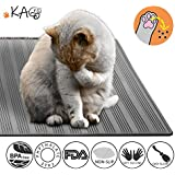 KGA Waterproof Cat Litter Mat Silicone, Anti-Slip Scatter Control Anti-Microbial FDA Grade Silicone Easy Cleaning Cat Litter Trapper