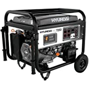 Hyundai HHD7250, 6500 Running Watts/7250 Starting Watts, Gas Powered Portable Generator