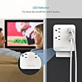 Multi Plug Outlet, dodocool Wall Mount Adapter USB Charging Station 1250W Smart 4 AC Outlets, 4 Ports USB Charger with AIQ Charging Tech/LED Indicator for Smartphones/Tablets and More
