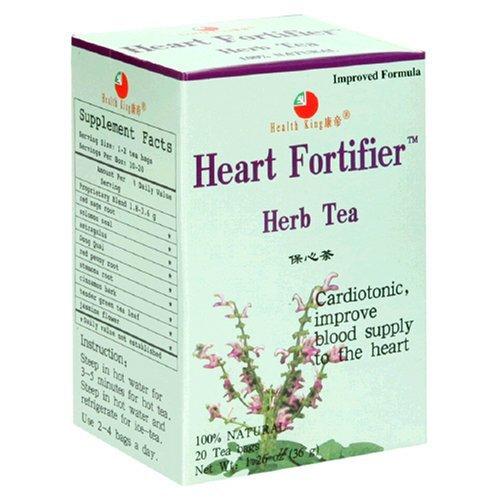 Health King Heart Fortifier Herb Tea, Teabags, 20-Count Box (Pack of 4) by Health (Heart Fortifier Herb Tea)