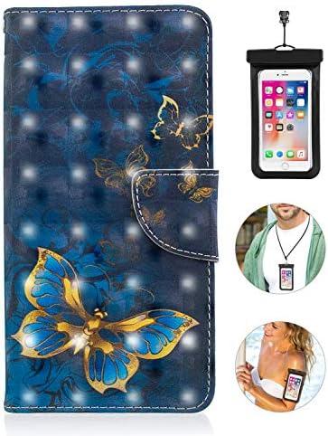 iPhone 8 plus ケース アイフォン 手帳型 プラス 本革 レザーケース 財布型 カード収納 マグネット式 保護ケース 軽量 スマホケース スマートフォンケース アイフォン [無料付防水ポーチ水泳など適用]