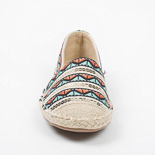 Espadrillas Shoes Ideal con verde Vaitea lustrini decorate Verde ricami e qHxdwC