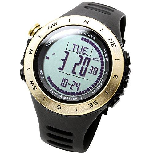 [LAD WEATHER] Watch 3-axis accelerometer sensor Altimeter alarm Weather prediction Climbing/ Running/ Hiking Outdoor Watch