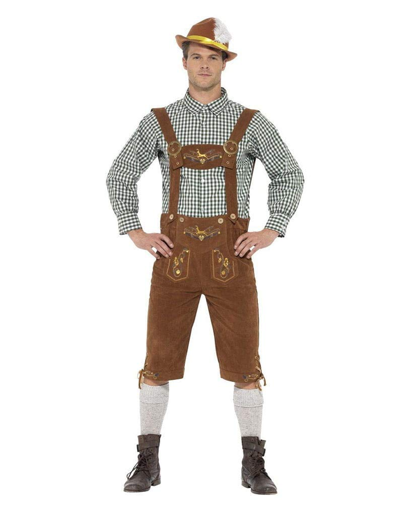 tienda en linea Horror-Shop Pantalones de de de Cuero Traje bávaro con Camisa a Cuadros L  saludable