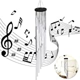 UniGift 35 Inch Long Wind Chime with 18 Aluminum Alloy Tubes For Outdoor Patio,Balcony and Indoor Decoration (Silver) Review
