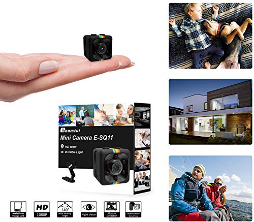 ehomful Mini Camera Spy Wireless Hidden,1080P 30FPS No Glow Light,Night Vision and Motion Detection