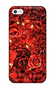 Hot New Red Roses Lights Case Cover For Iphone 5/5s With Perfect Design