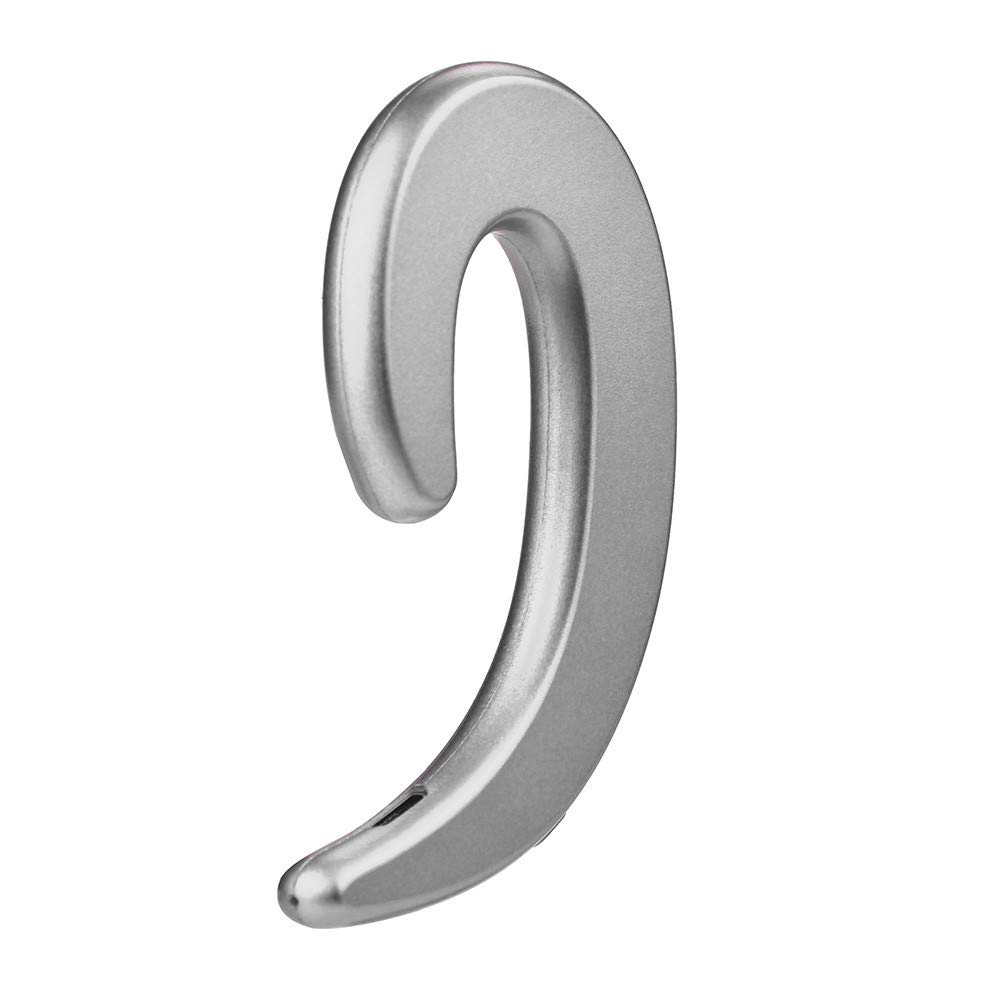Fabal Single Ear Hook Type Headset Bone Conduction Earphone Wireless Bluetooth Sports Stereo Headphone (Silver) by Fabal (Image #2)