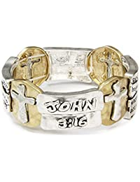 4031589 John 3:16 Stretch Bracelet For God So Loved The World Scripture